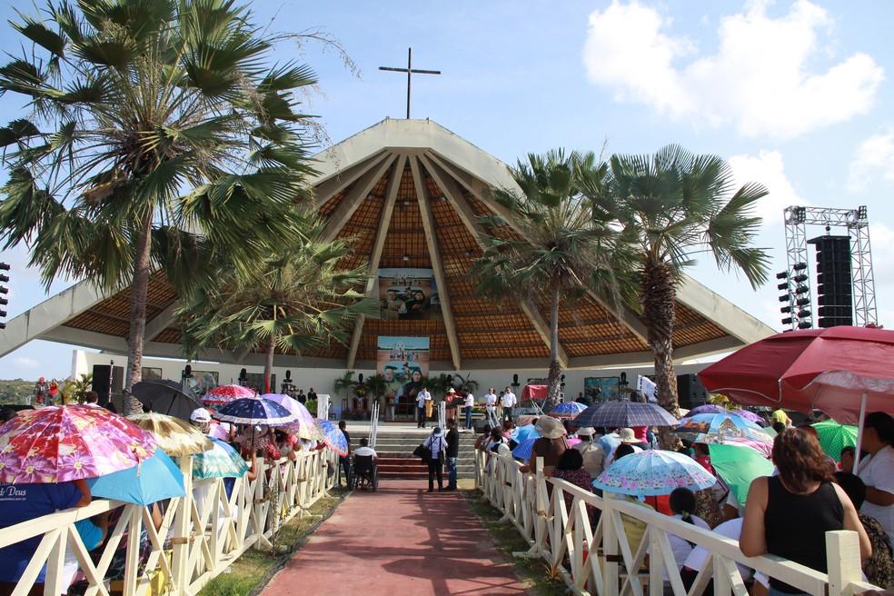 Santuário localizado em Uruaçu — Foto: Divulgação