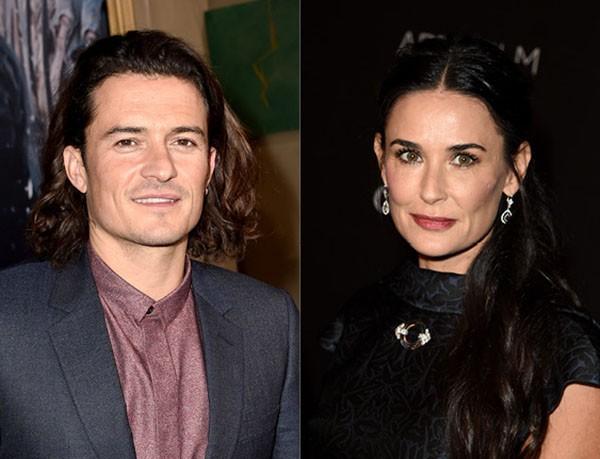 Orlando Bloom e Demi Moore (Foto: Getty Images)
