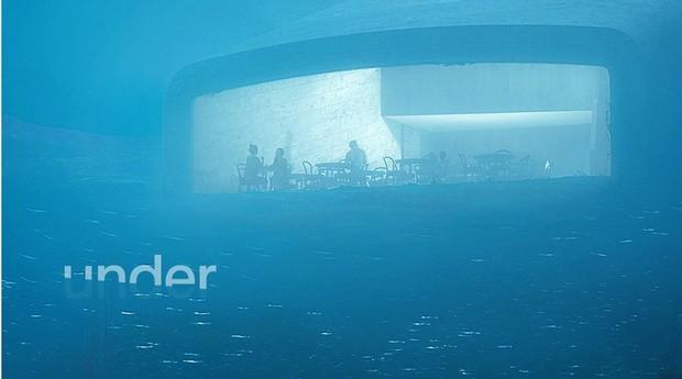 Restaurante Under, na Noruega (Foto: Reprodução/Facebook)