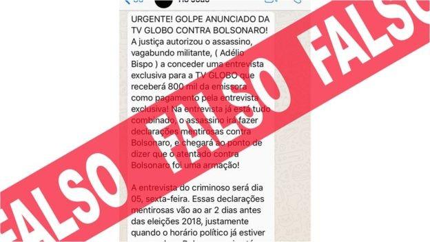 Circulam também mensagens com 'desinformação preventiva', ou seja notícias falsas sobre coisas que ainda nem aconteceram (Foto: BBC News Brasil)