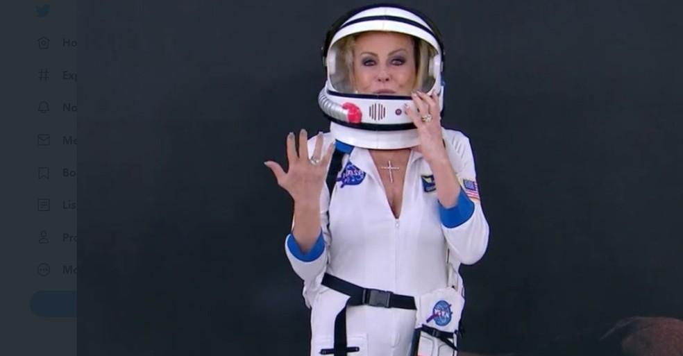 Ana Maria Braga já teve o seu momento astronauta — Foto: TV Globo