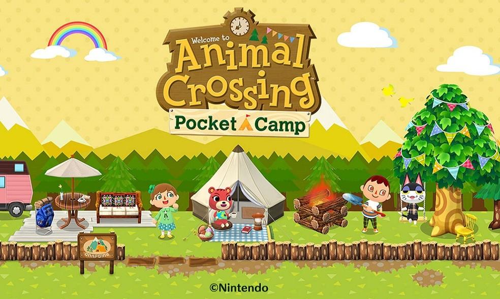 Animal Crossing: Pocket Camp foca na construção e no relacionamento com criaturas amigáveis — Foto: Divulgação/Nintendo