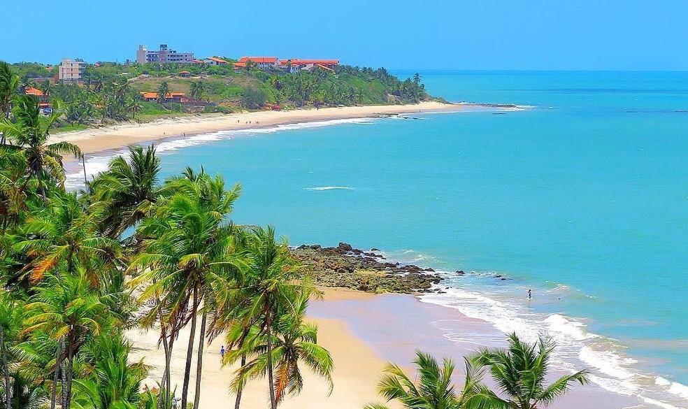 Praia de Tabatinga fica a 30 quilometros de João Pessoa — Foto: Eduardo Fechine