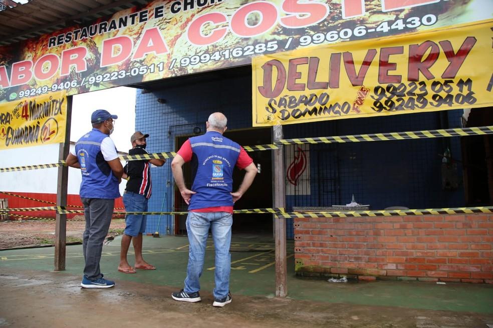 Esse é o 3º final de semana desde que começou a valer decreto estadual que determina fechamento do comércio  — Foto: Dharcules Pinheiro/Ascom Sejusp