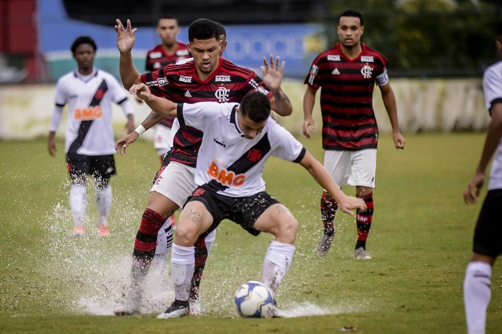Primeiro jogo terminou com vitória do Flamengo por 2 a 1 — Foto: Marcelo Cortes/ Flamengo