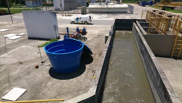 Projeto de descontaminação de água da O2eco em São José Dos Campos (SP) (Foto: Divulgação)