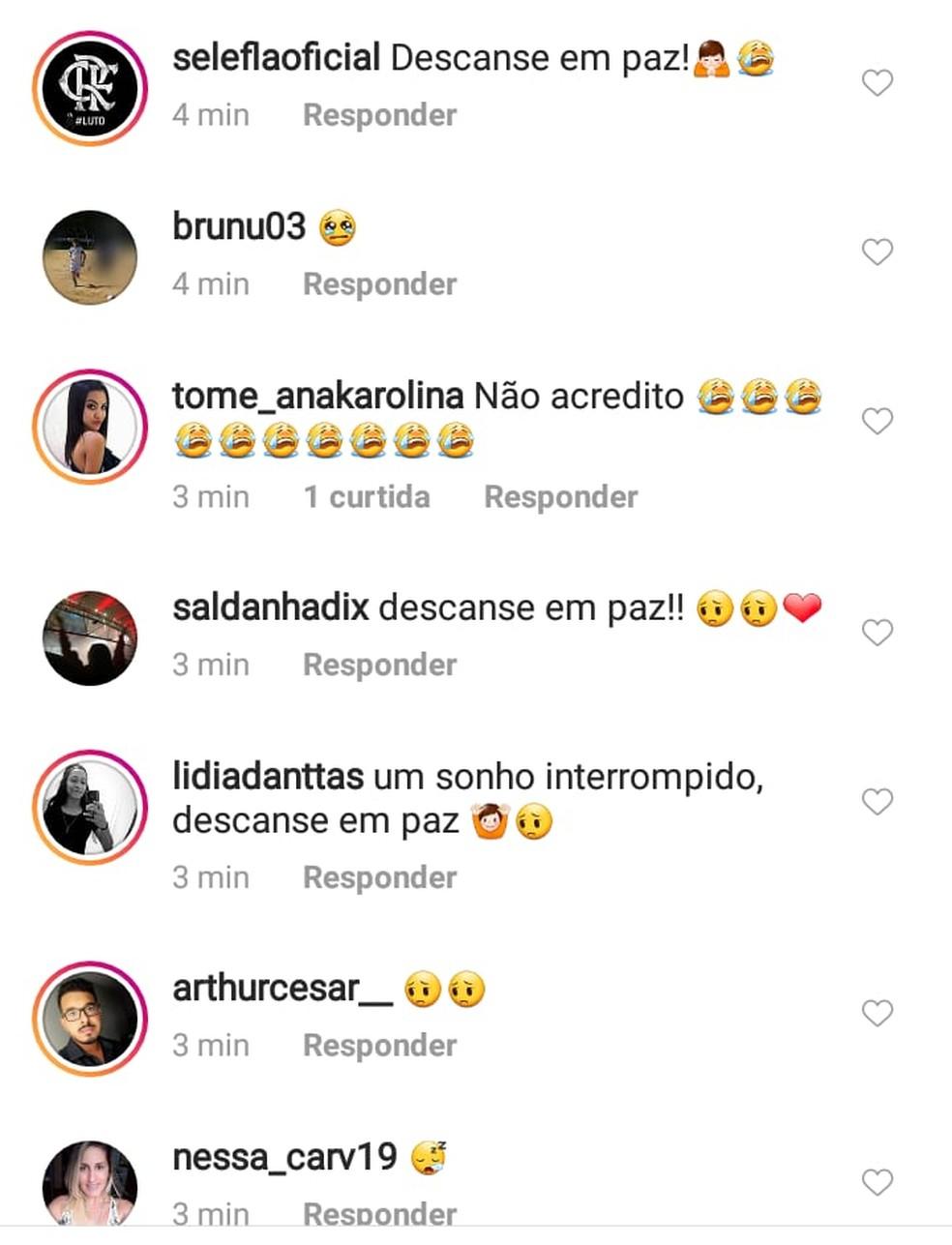 Morte de Athur Vinícius gerou comoção nas redes sociais do atleta — Foto: Reprodução/Rede Social