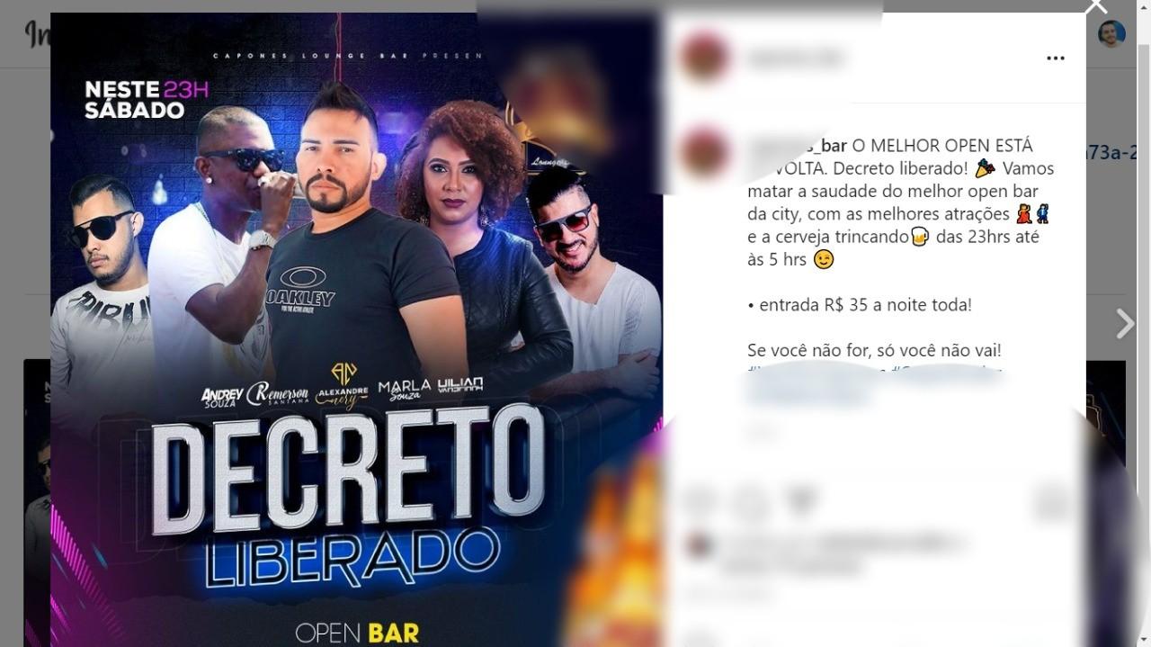 Baladas protocolam pedidos para shows em Porto Velho um dia após governo liberar eventos com até 999 pessoas em RO