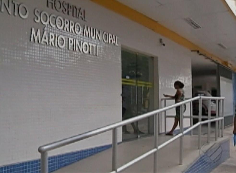Após ser envenenada pelo próprio pai, a vítima ficou internada no PSM Mário Pinotti, em Belém. (Foto: Reprodução/TV Liberal)