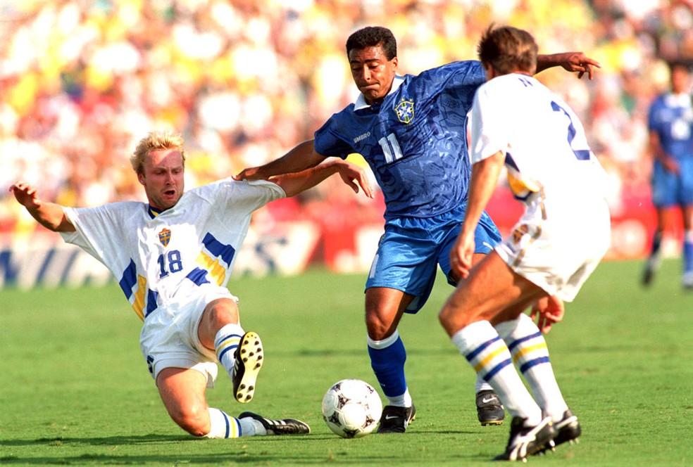 1e21b011abf03 ... Romário marcou o gol da vitória do Brasil sobre a Suécia na semifinal  de 94 —