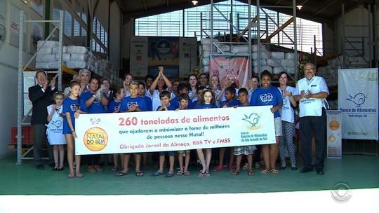 Campanha Natal do Bem recolhe 260 toneladas de doações de alimentos