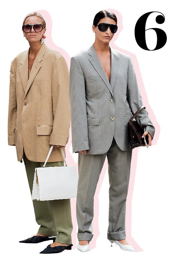 O blazer é giga, mas fica sexy usado assim, sem nada embaixo (Foto: Imaxtree)