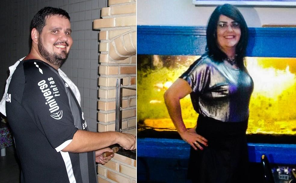 Antes e depois de Flavia Bianco (Foto: Arquivo Pessoal)