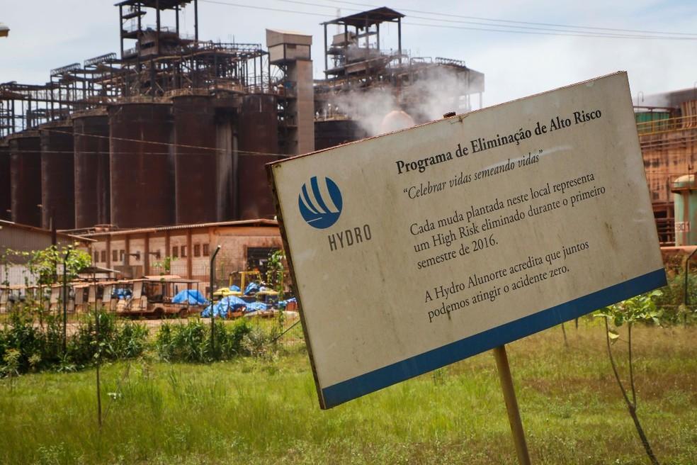 Hydro em Barcarena é investigada por despejo irregular de resíduos no meio ambiente. — Foto: Tarso Sarraf / O Liberal