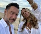 Adriane Galisteu e o marido, Alexandre Iodice | Reprodução