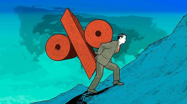 """PESO-PESADO O Brasil precisa adotar uma ampla reforma do sistema financeiro para que os juros cheguem a um patamar """"normal"""" (Foto: Ilustração: Davi Augusto)"""