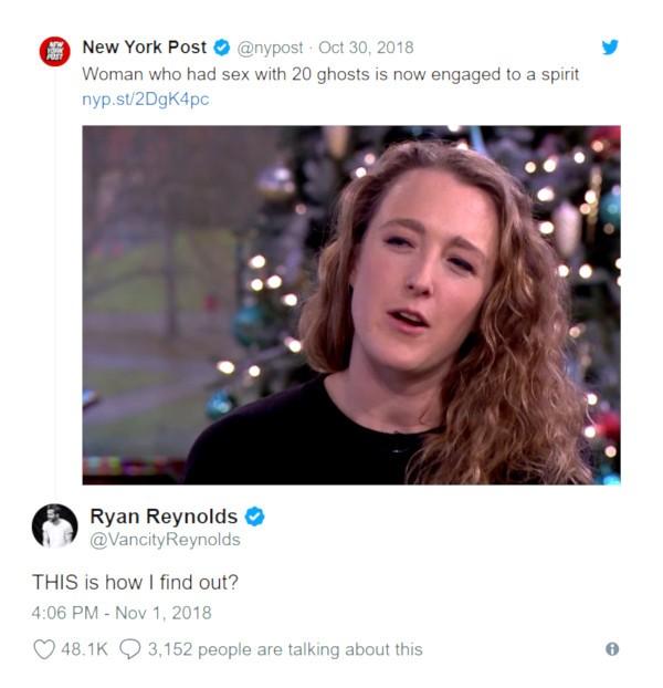 Ryan Reynolds em resposta ao New York Post (Foto: Twitter)