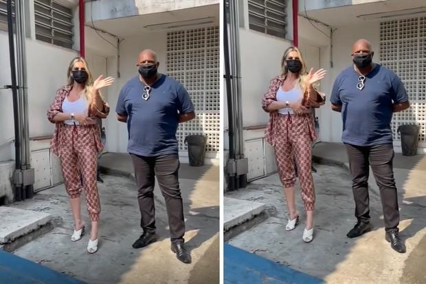 Livia Andrade é vista com seguranças no exame de DNA do filho de Pétala Barreiros e Marcos Araújo (Foto: Reprodução/Instagram)