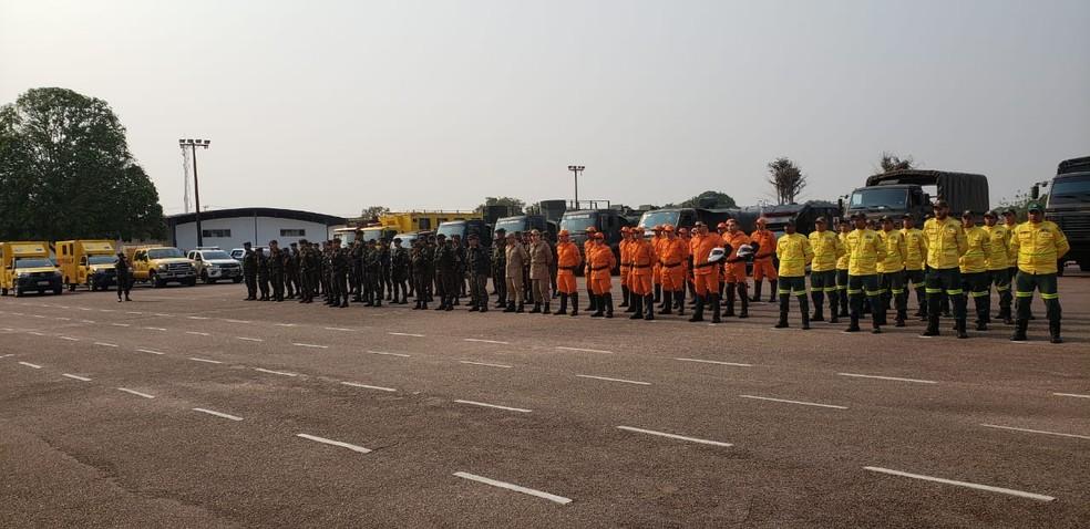Ação terá apoio dos Bombeiros e Prevfogo — Foto: EB/Divulgação