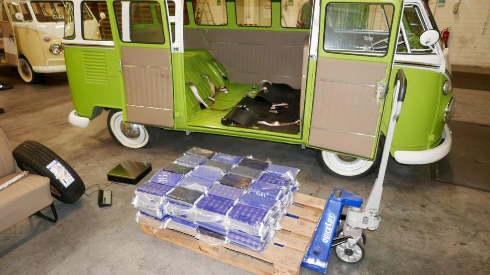 Tabletes de cocaína foram apreendidos pelas autoridades da Alemanha — Foto: Divulgação/Alfândega de Hamburgo