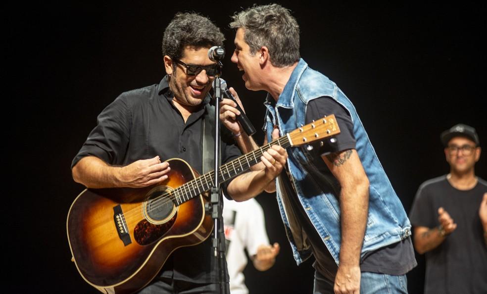 Wilson Sideral e Rogério Flausino tocarão canções de Cazuza pela segunda vez no Rock District. — Foto: Divulgação