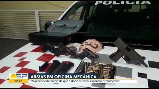 Polícia prende homem em oficina mecânica e localiza armamento em Guarulhos