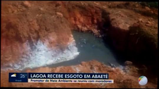 Situação de lagoa que recebe dejetos em Abaeté é discutida durante reunião