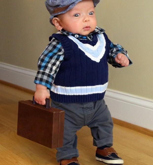 O pequeno Ryan indo para o trabalho (Foto: Matt Macmakesstuff)