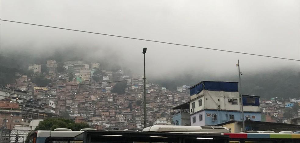 Rocinha, na Zona Sul do Rio. (Foto: Henrique Coelho/ G1)