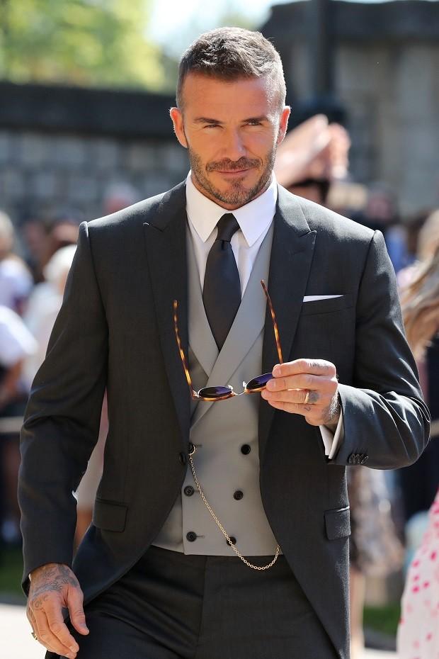 David Beckham vestiu uma das primeiras criações de Kim Jones para a Dior Homme (Foto: Getty Images)