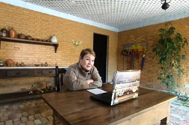 Isabela Assumpção no 'Globo repórter' (Foto: TV Globo)