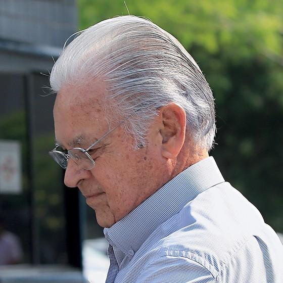 O empresário Adhemar Ribeiro, cunhado de Geraldo Alckmin, no Fórum Criminal da Barra Funda, em São Paulo. Ele é suspeito de intermediar caixa dois em campanhas tucanas (Foto: Edilson Dantas/Agência O Globo)