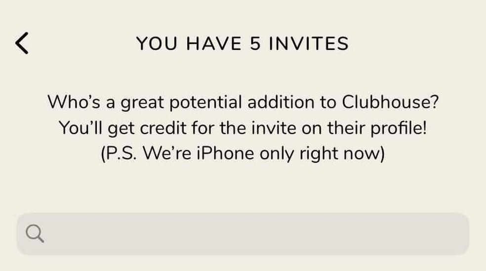 Como enviar convite Clubhouse? Invite é nominal — Foto: Reprodução/Thássius Veloso