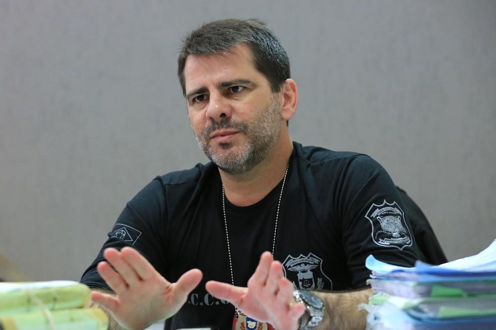 Delegado Flávio Stringuetta registrou dois boletins contra Jarbas — Foto: Lenine Martins/Sesp-MT