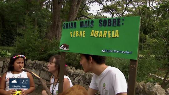 Zoo de São Paulo monta tenda de informações sobre a febre amarela