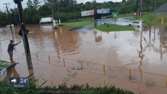 Chuva forte em Rio Claro causa quedas de árvores e alagamentos