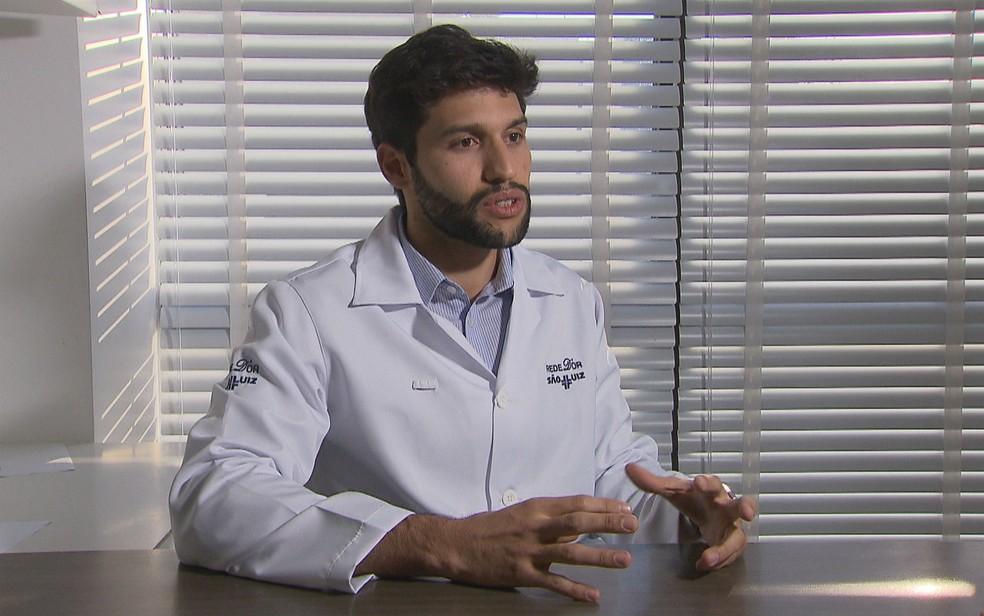 Obstetra e ginecologista Matheus Beleza, de Brasília (Foto: TV Globo/Reprodução)