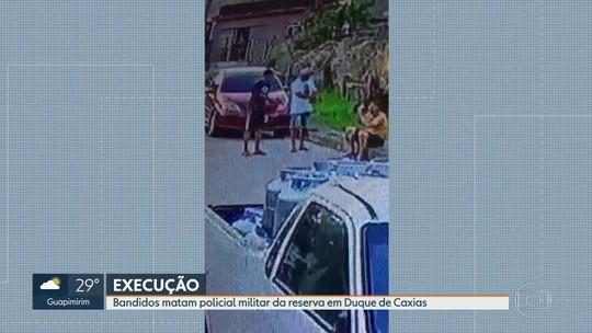 Câmera flagra execução de PM reformado em Duque de Caxias