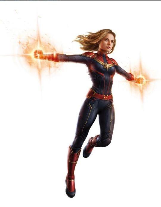 Capitã Marvel nas artes de 'Vingadores 4' (Foto: Reprodução)