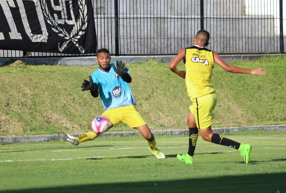 Matheus marcou um dos gols contra a Seleção do Trairi (Foto: Andrei Torres/ ABC FC)
