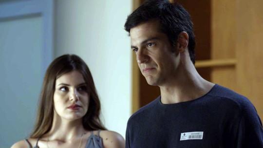 Eric e Luíza revelam plano da falsa separação para Bebeth