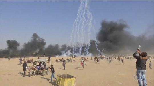 Mais de 2.700 palestinos se ferem em protestos contra embaixada dos EUA