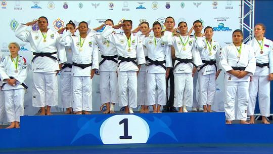 Dose dupla! Brasil é campeão por equipes do Mundial Militar de Judô