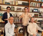 Caetano Veloso fez live com os filho, Tom, Moreno e Zeca | Globo
