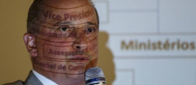 O ministro Onyx Lorenzoni anuncia o novo desenho da Esplanada