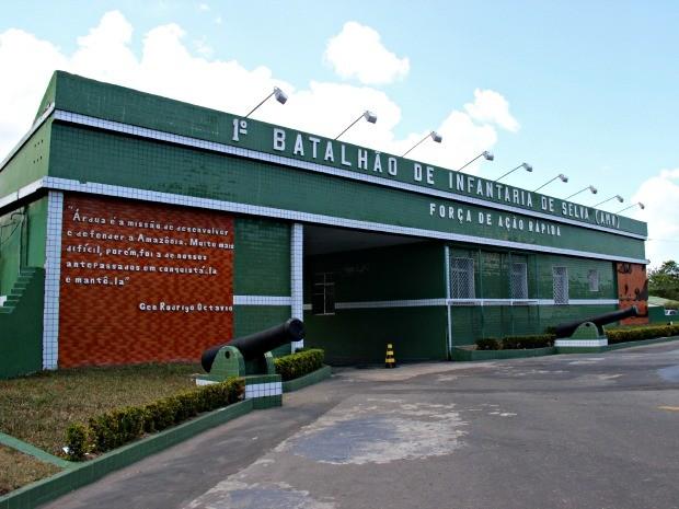 1º Batalhão de Infantaria de Selva Aeromóvel é um dos sete postos de coletas do Exército (Foto: Adneison Severiano/G1 AM)