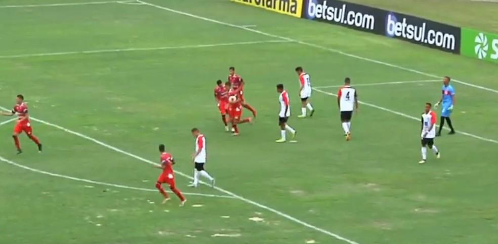 River-PI vence o Capital-TO por 6 a 1 — Foto: FPF TV
