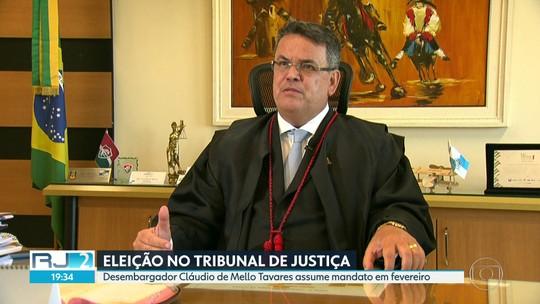 Tribunal de Justiça do Rio elege desembargador Cláudio de Mello Tavares como novo presidente