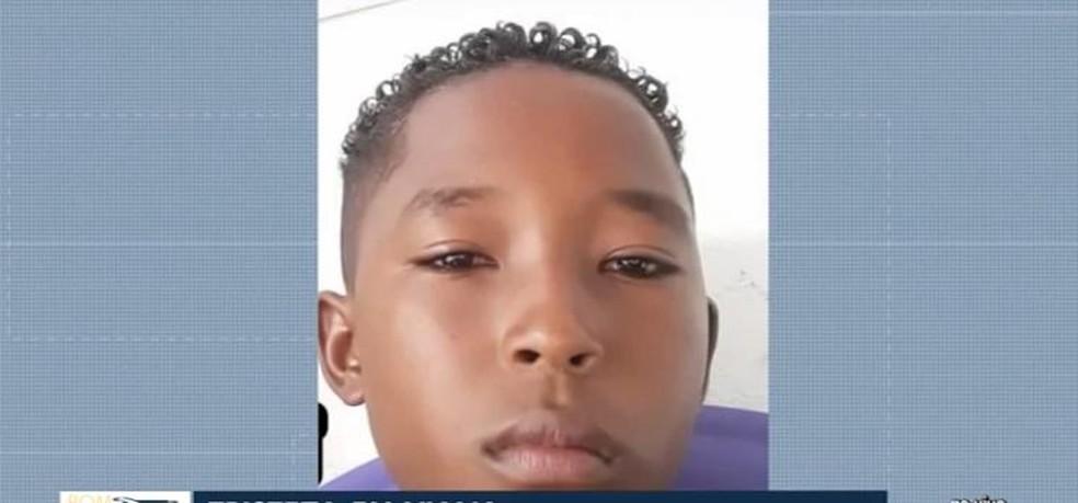 Gleison Ferreira, de 11 anos, estava internado há duas semanas, mas não resistiu aos ferimentos graves.  — Foto: Reprodução/ TV Mirante