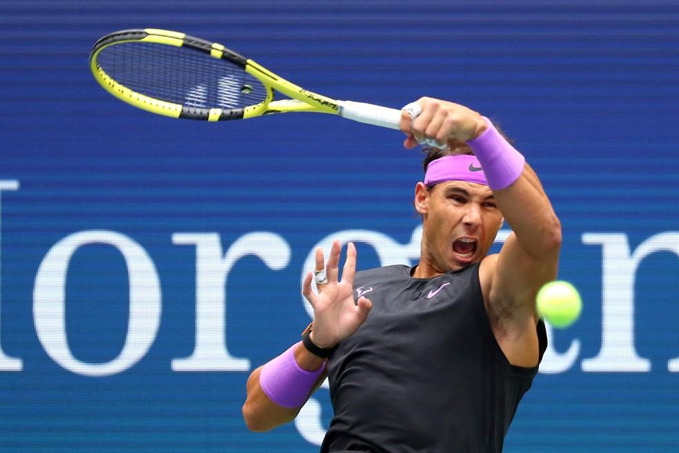 Rafael Nadal DAniil Medvedev US Open — Foto: Clive Brunskill/Getty Images
